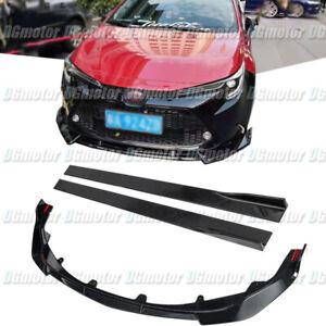 For Toyota Corolla 2020 2021 LE XLE Front Lip Splitter Spoiler + Side Skirt