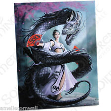DRAGON DANCER Canvas Wall Art Plaque ANNE STOKES dragon wicca fantasy