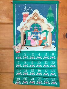 Vintage 1987 AVON Christmas Countdown Advent Calendar Mouse Holiday Santa