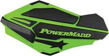 Powermadd Sentinel Handguards Green/Black #34403 for Motorcycles