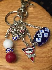 New England Patriots Purse Charm Key Ring Chain