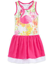 BONNIE JEAN Girls' 4 Flamingo Racerback Sequin Dress NWT $42