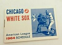 1964 Chicago White Sox Baseball Schedule Hamm's Beer & Pepsi Cola #E