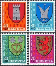 Switzerland 1981 Coats-of Arms/Welfare Fund/Lion/Castle/Shells 4v set (n44389)