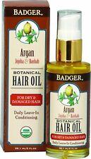 Botanical Hair Oil for Dry & Damaged Hair, Badger, 2 oz 1 pack