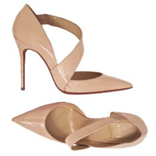 CHRISTIAN LOUBOUTIN Jumping Nude Patent Leather Pointed Toe High Heel Pump 39