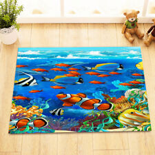"Tropical Fishes Kitchen Bathroom Door Mats 15X23"" Floor Non-Slip Bath Mat Rug"