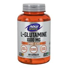 NOW Foods L-Glutamine 1000 mg 120 Caps, Double Strength, Support Muscle Mass