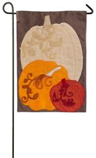 Pumpkin Trio Autumn Fall Garden Flag! MAKE AN OFFER!!!