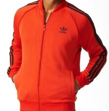 NWT Sz S Small Adidas Originals Men's Trefoil Superstar Track Tops Jacket Corred