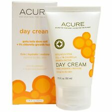 ACURE ORGANICS NATURAL DAY CREAM GOTU KOLA STEM CELL 1% CHLORELLA GROWTH FACTOR