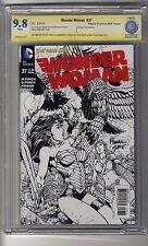 Wonder Woman (2011) # 37 Sketch Cbcs 9.8 White 2Xss Dave Finch & Meredith Finch