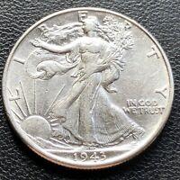 USA 1943 Walking Liberty Half Dollar 50 Cent Unzirkuliert Silber #23230