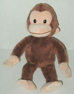 "Applause Curious George Monkey 10"" Plush 38351 Stuffed Animal Bean Bottom Toy"