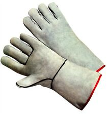 Gray Leather Welding Gloves One Pair Gunn Pattern Men Size Only 13 Inch