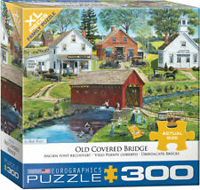 "Eurographics -  ""Old Covered Bridge"" - 300 XLg Piece Jigsaw Puzzle NEW"