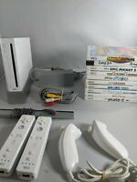 Nintendo Wii System W/ -  10 GAMES, 2 Controllers, Gamecube Backwards Compatible