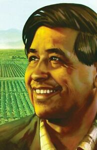 Cesar Chavez (Stamp) POSTER 24 X 36 INCH Mexico History Revolution