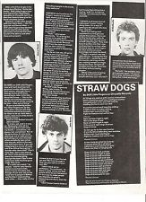 STIFF LITTLE FINGERS Straw Dogs lyrics UK ARTICLE / clipping 11x8  inches