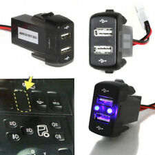 Dashboard Panel Mount Dual USB Power Socket Charger For Scania Series R P G Oem