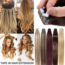 Seamless Tape In Pu Ombre Soft Remy  Hair Extensions Human Hair 16-26Inch