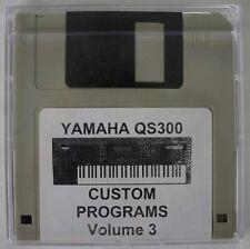 Yamaha QS300 Synthesizer Custom Programs Volume 3 Disk