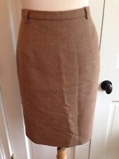 WOMENS RODIER MADE IN FRANCE CAMEL PENCIL SKIRT SZ 38 EUC