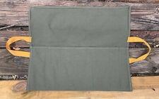 Vintage Canvas Cloth Folding Wrench Bag Tool Roll Storage Pocket Pouch NICE NEW