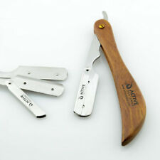 Barber Hair Salon Straight Cut Throat Shaving Wooden Razor Shavette Rasoir Rasoi