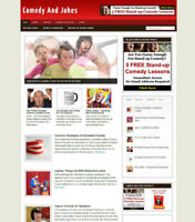 COMEDY UK AFFILIATE STORE WEBSITE BLOG INCLUDES FREE DOMAIN FOR SALE