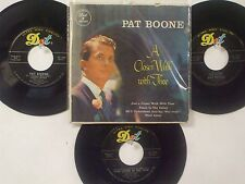LOT OF 4 ' PAT BOONE ' HIT 45's+1(Extended Play PS)      THE 50's&60's!