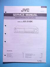 Instrucciones Manual de servicio para JVC ax-211 bk, original
