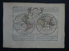 1729 CHIQUET  Atlas  WORLD map  GLOBE TERRESTRE - California Island + text