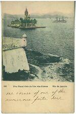 1900s  Color Postcard of Rio de Janeiro Ilha Fiscal vista da Ilha das Cobras