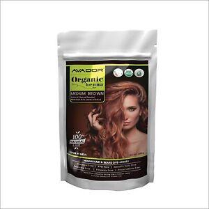 AVADOR Organic Henna Medium Brown Hair Color Powder Chemical Free Henna 200 gm