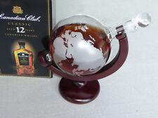 Designer Whisky Karaffe Globus Weltkugel -Dekanter  auf Holzständer