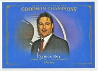 2016 Goodwin Champions HORIZONTAL ROYAL BLUE Patrick Roy  SSP