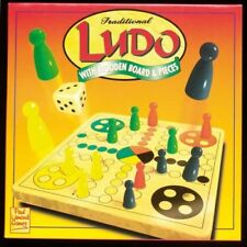 Paul Lamond Traditional Ludo Board Game With Wooden Board & Pieces