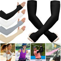 Unisex Outdoor Sports Athletic Cooling Arm Sleeves Cover UV Sun Protect Cycling