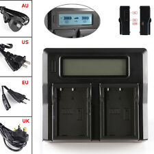 LCD Dual Battery Charger Fr Sony NP-FW50 A7R A7S A7II A6300 A5100 A6000 RX10 NEX