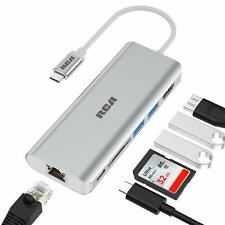 RCA 6 in 1 USB-C Computer Laptop Adapter with Ethernet Silver C109
