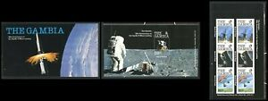 Gambia note after Scott #403 MNH BOOKLET Apollo 11 Moon Landing 10th ANN CV$3+