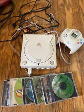 SEGA Dreamcast Console 1 Controller 5 Games MLB NBA NFL Tennis World Series