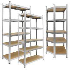 Scaffale metallo carichi pesanti magazzino officina garage 5 ripiani più misure