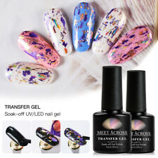 MEET ACROSS Nail Foil Decals Transfer Starry Adhesive Gel Manicure Tool US STOCK