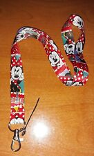 New Walt Disney Minnie Mouse Neck Strap pink Lanyard