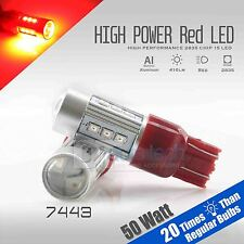 2X 7443/7440 50W Red Projector High Power Chip LED Brake Tail Stop Lights Bulbs