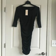 New Selected Femme 3/4 Sleeve Sexy Black Dress Extra Small Stretchy