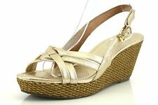 Corso Como EUGENIA Gold Leather Wedge Sandals 7390 Size 10 M NEW!