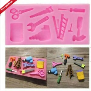 Silicone Tools Hammer Fondant Mold Cake Chocolate Baking Mould Topper Decoration